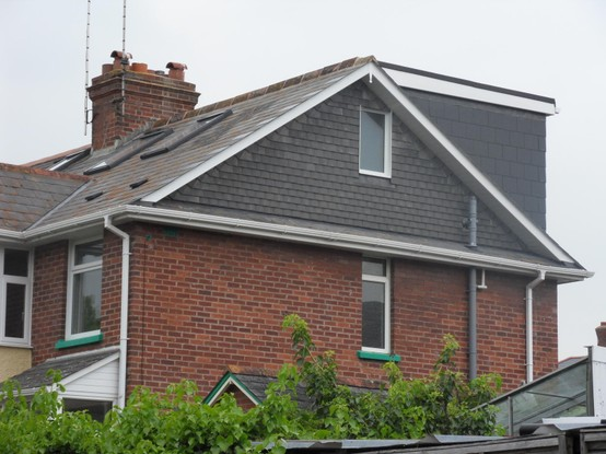 A hip to gable loft conversion with a rear dormer