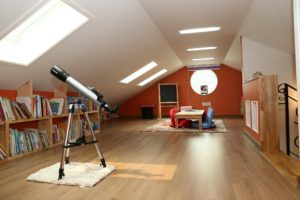 As loft conversion ideas go, a spare living room is up there!