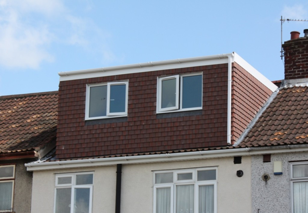 A typical dormer loft conversion at the front of the house.
