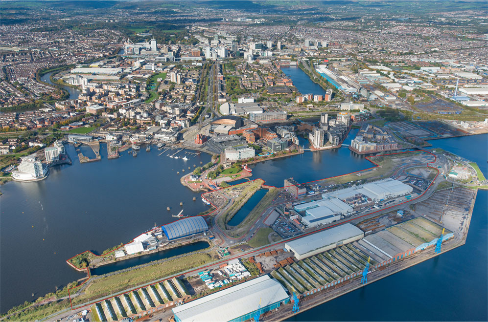 HLN Engineering Ltd utilised advanced drainage design techniques as part of the company's involvement in the Roath Basin regeneration project, Tiger Bay, Cardiff