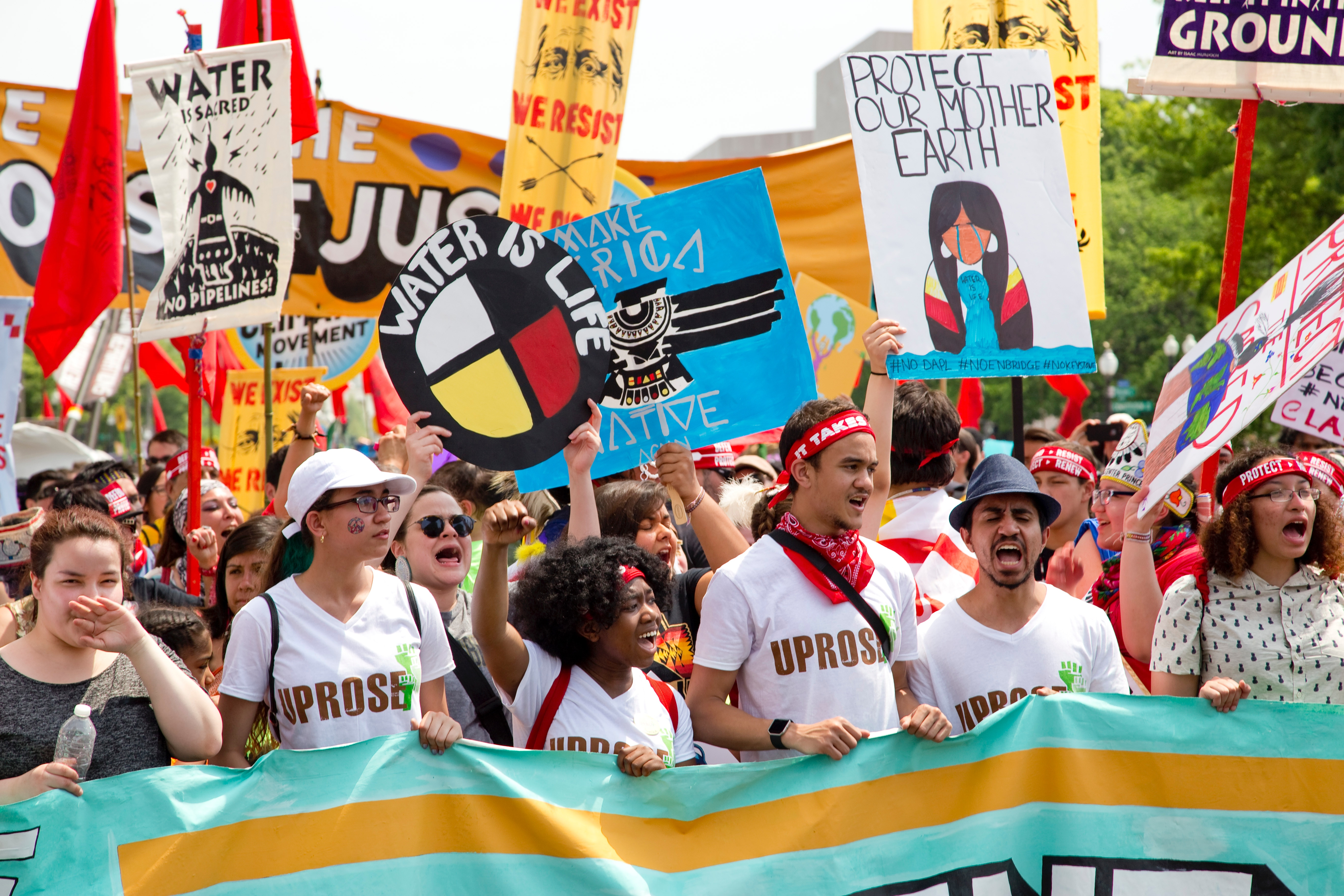 A group of environmental activists at a protest