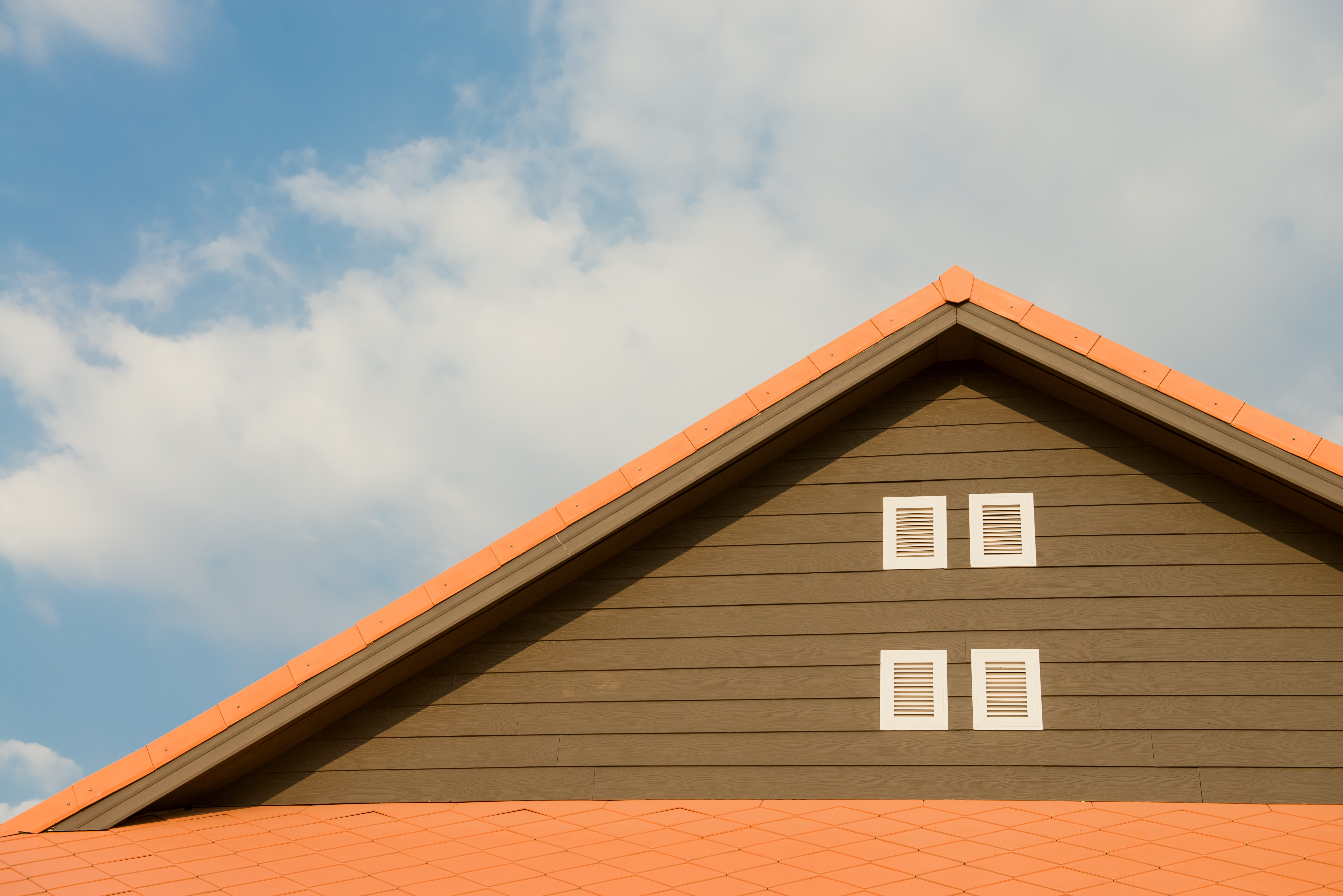 A traditional gable roof