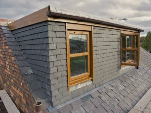 A mansard loft conversion as viewed from the outside